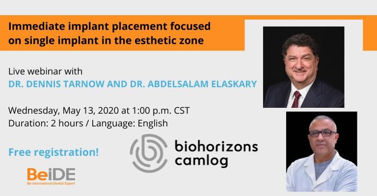 Live webinar with Dr. Dennis Tarnow and Dr. Abdelsalam Elaskary