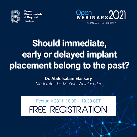 Should immediate, early or delayed implant placement belong to the past?